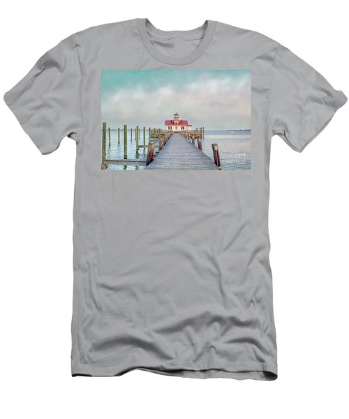 Manteo Lighthouse Men's T-Shirt (Athletic Fit)