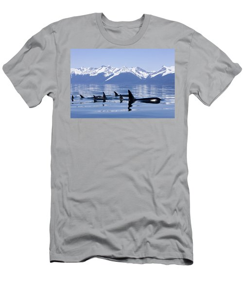 Many Orca Whales Men's T-Shirt (Athletic Fit)