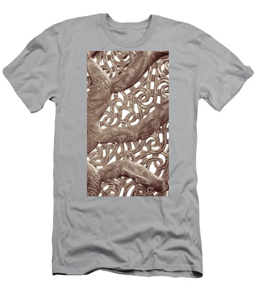 Maori Abstract Men's T-Shirt (Slim Fit) by Denise Bird