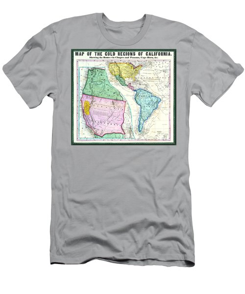 Map Of The Gold Regions Of California Men's T-Shirt (Athletic Fit)
