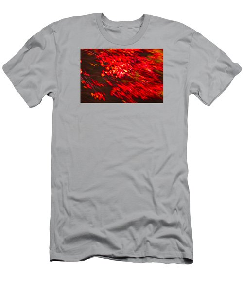 Maple Red Abstract Men's T-Shirt (Athletic Fit)