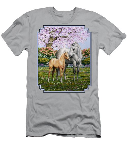 Mare And Foal Pillow Blue Men's T-Shirt (Athletic Fit)