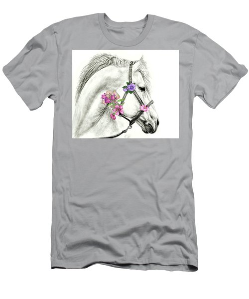 Mare With Flowers Men's T-Shirt (Slim Fit) by Heidi Kriel