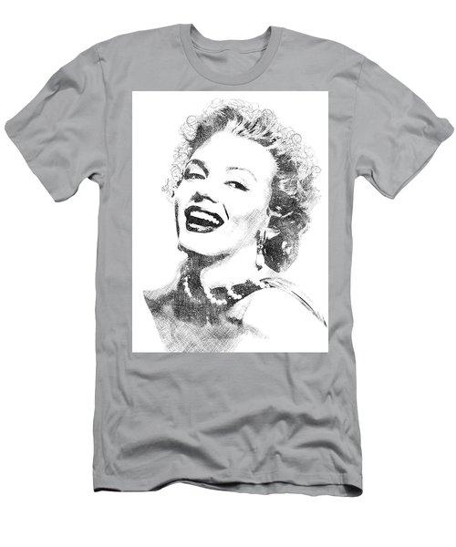 Marilyn Monroe Bw Portrait Men's T-Shirt (Slim Fit) by Mihaela Pater