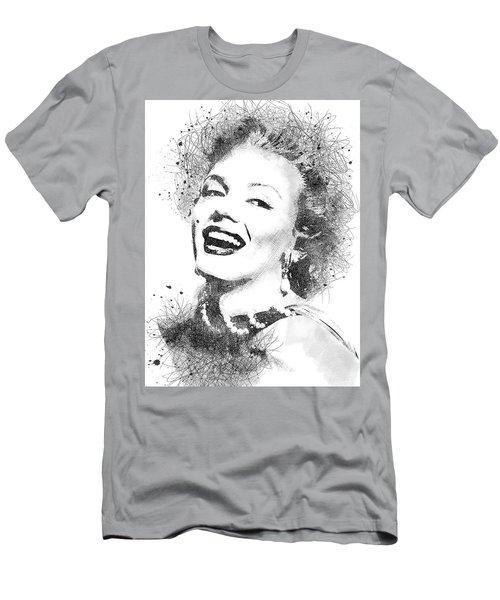 Marilyn Monroe Scribbles Portrait Men's T-Shirt (Athletic Fit)