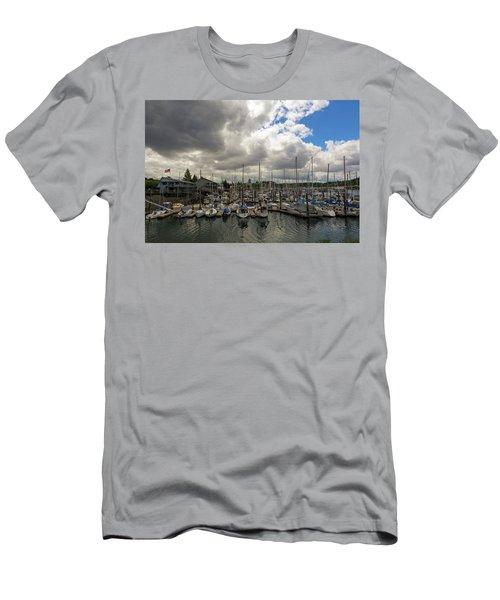 Marina In Olympia Washington Waterfront Men's T-Shirt (Athletic Fit)