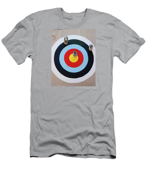 Men's T-Shirt (Slim Fit) featuring the photograph Mark Jenkins Target Mural by Jean Haynes