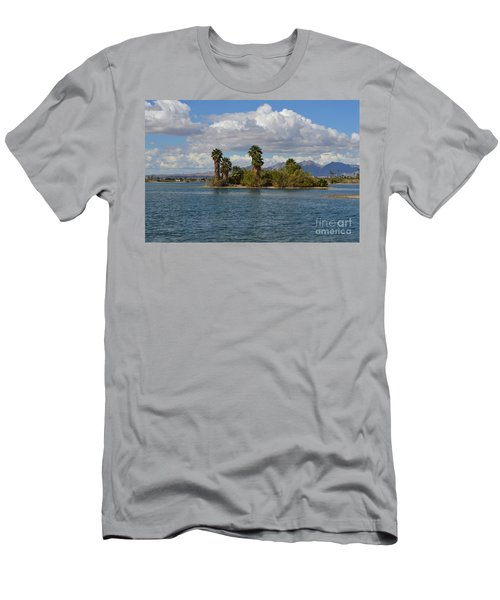 Marooned Palms Men's T-Shirt (Slim Fit) by Renie Rutten