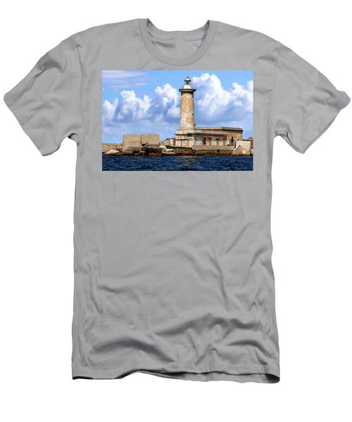Marsala Lighthouse Men's T-Shirt (Athletic Fit)