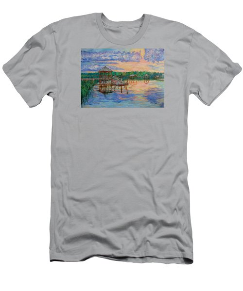 Men's T-Shirt (Athletic Fit) featuring the painting Marsh View At Pawleys Island by Kendall Kessler