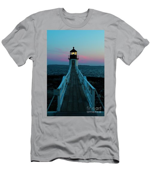 Marshall Point Lighthouse At Sunset Men's T-Shirt (Athletic Fit)