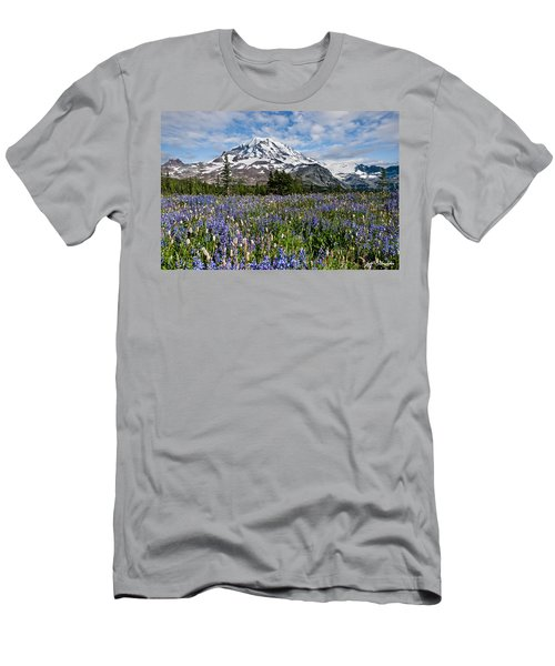 Meadow Of Lupine Near Mount Rainier Men's T-Shirt (Athletic Fit)