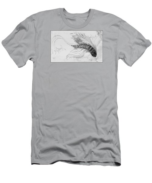 Men's T-Shirt (Athletic Fit) featuring the drawing Megic Fish 3 by James Lanigan Thompson MFA
