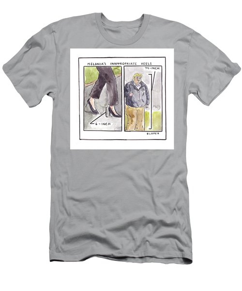 Melania's Inappropriate Heels Men's T-Shirt (Athletic Fit)