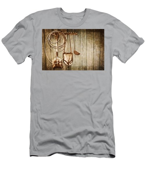 Men's T-Shirt (Slim Fit) featuring the photograph Memories Of Grandpa by Carolyn Marshall