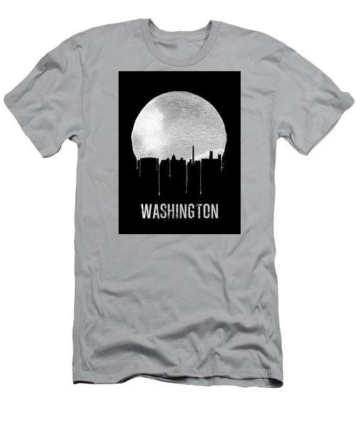 Memphis Skyline Black Men's T-Shirt (Slim Fit) by Naxart Studio