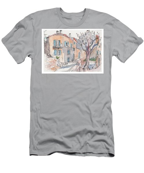 Men's T-Shirt (Slim Fit) featuring the painting Menerbes by Tilly Strauss