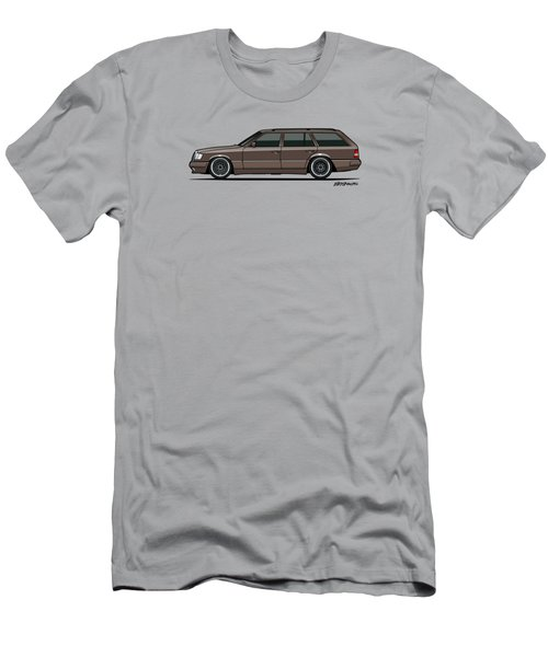 Mercedes Benz W124 E-class 300te Wagon - Anthracite Grey Men's T-Shirt (Slim Fit) by Monkey Crisis On Mars