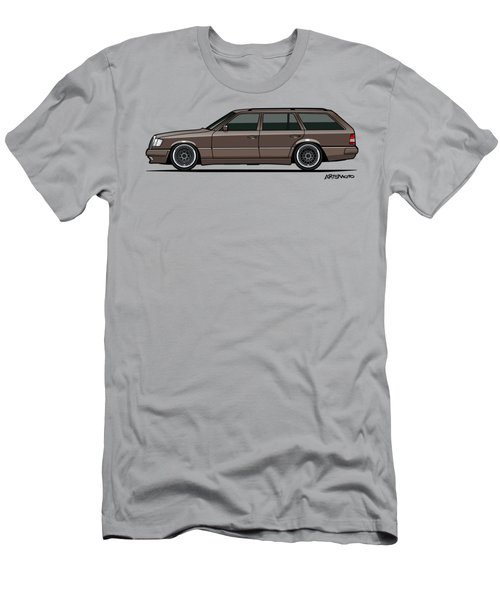 Mercedes Benz W124 E-class 300te Wagon - Anthracite Grey Men's T-Shirt (Athletic Fit)