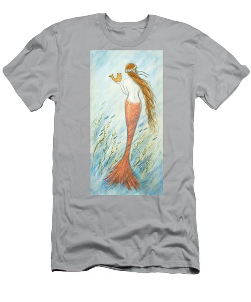 Mermaid And Her Catfish, Goldie Men's T-Shirt (Slim Fit) by Tina Obrien