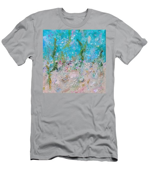 Men's T-Shirt (Athletic Fit) featuring the painting Mermaid Meditation by Judith Rhue