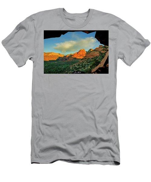 Mescal Mountain 04-012 Men's T-Shirt (Slim Fit) by Scott McAllister