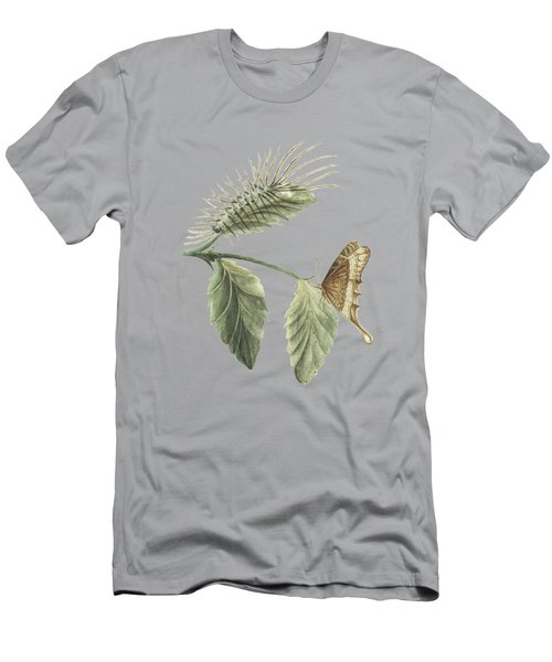 Metamorphosis Of The Caterpillar Shown On A Leaf With The Butterfly By Cornelis Markee 1763 Men's T-Shirt (Athletic Fit)