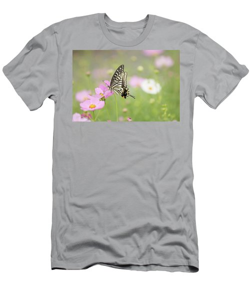 Mexican Aster With Butterfly Men's T-Shirt (Slim Fit) by Hyuntae Kim