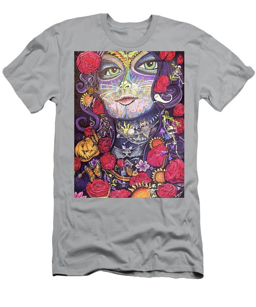 Mia De Los Muertos Men's T-Shirt (Athletic Fit)