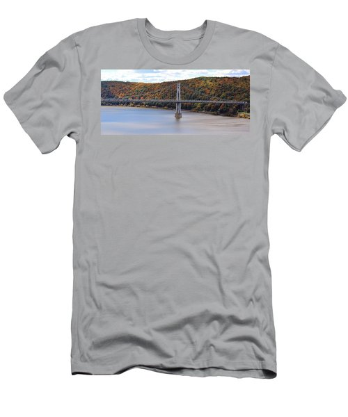 Mid Hudson Bridge In Autumn Men's T-Shirt (Athletic Fit)