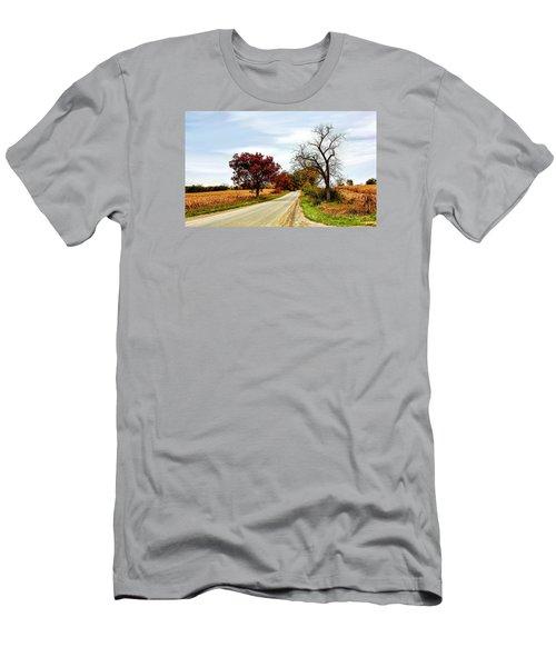 Midwest Autumn  Men's T-Shirt (Slim Fit) by Pat Cook