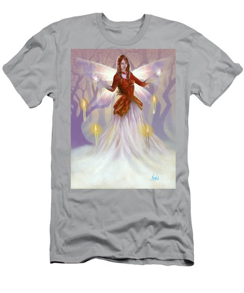 Midwinter Blessings Men's T-Shirt (Slim Fit) by Amyla Silverflame