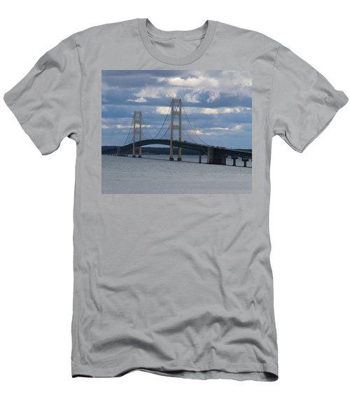 Mighty Mac The Mackinac Bridge Men's T-Shirt (Slim Fit) by Keith Stokes