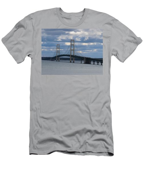 Mighty Mac The Mackinac Bridge Men's T-Shirt (Athletic Fit)
