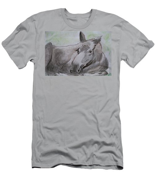 Mildred The Moose Resting Men's T-Shirt (Athletic Fit)