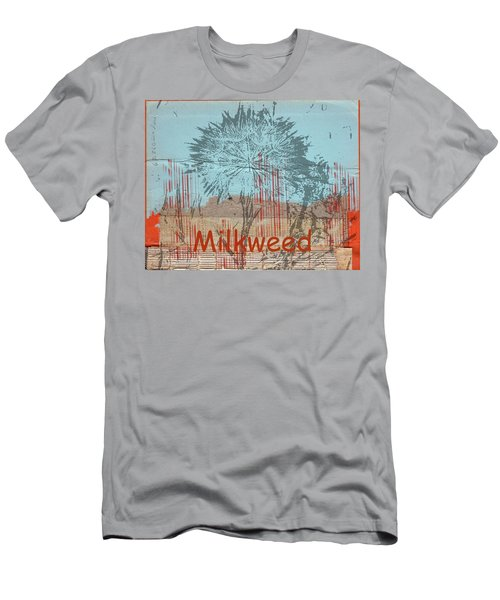 Men's T-Shirt (Slim Fit) featuring the photograph Milkweed Collage by Cynthia Powell