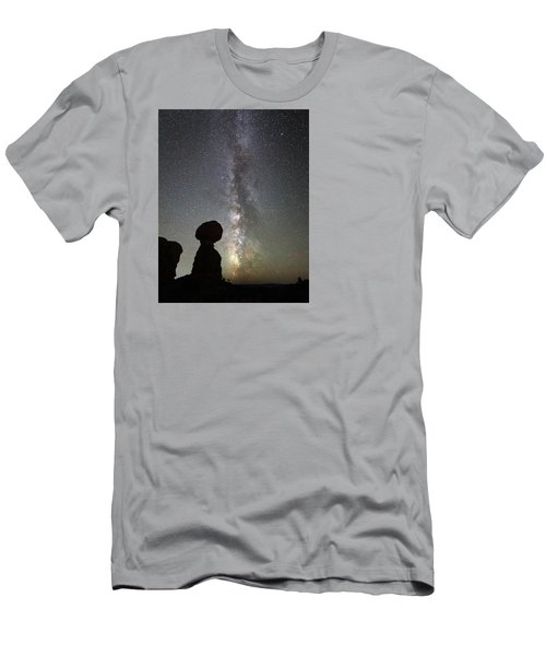 Milky Way Over Arches Np Three Men's T-Shirt (Athletic Fit)