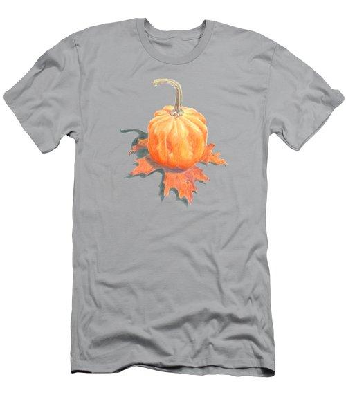 Miniature Pumpkin On Oak Leaf Still Life Men's T-Shirt (Athletic Fit)