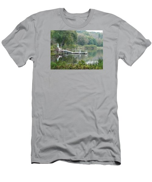 Mirrored Pier Men's T-Shirt (Athletic Fit)