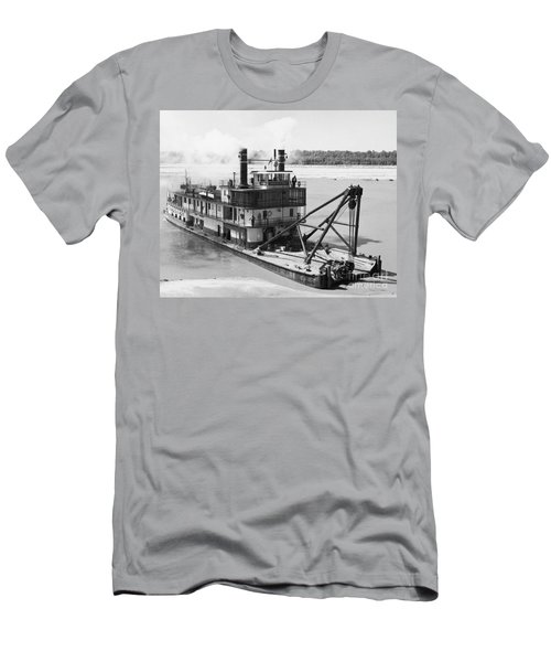 Men's T-Shirt (Slim Fit) featuring the photograph Mississippi River Snag Boat by Granger