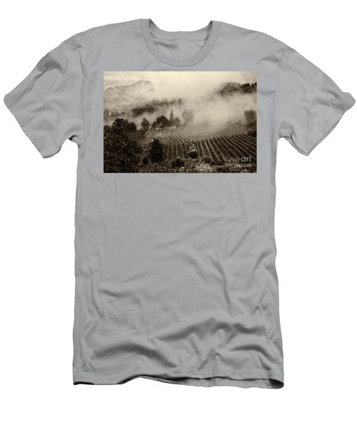 Misty Morning Men's T-Shirt (Slim Fit) by Silvia Ganora