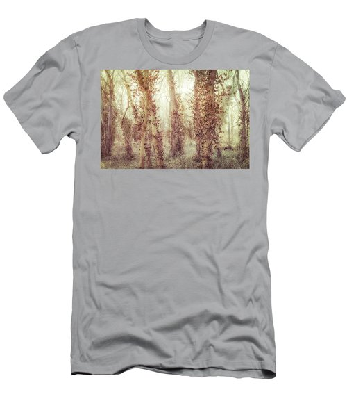 Misty Morning Winter Forest  Men's T-Shirt (Athletic Fit)