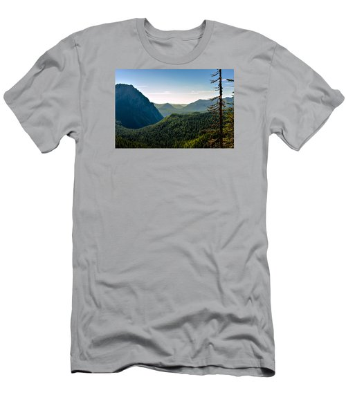 Misty Mountains Men's T-Shirt (Slim Fit) by Anthony Baatz