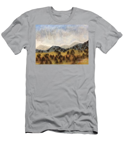 Misty Rain On The Mountain Men's T-Shirt (Athletic Fit)