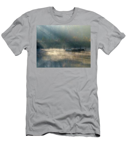 Men's T-Shirt (Slim Fit) featuring the photograph Misty Sunrise by George Randy Bass