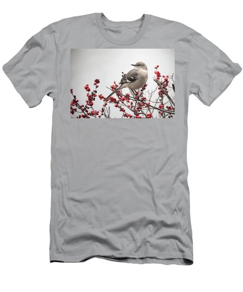 Mockingbird And Berries Men's T-Shirt (Athletic Fit)