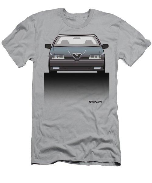 Modern Euro Icons Series Alfa Romeo 164 Quadrifoglio Q4 Split Men's T-Shirt (Athletic Fit)