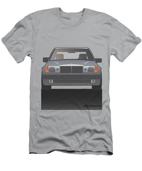 Modern Euro Icons Series Mercedes Benz W124 500e Men's T-Shirt (Athletic Fit)
