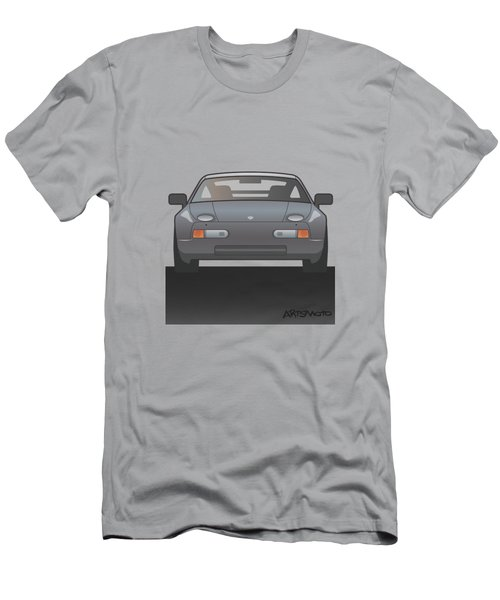 Modern Euro Icons Series Porsche 928 Gts Men's T-Shirt (Athletic Fit)