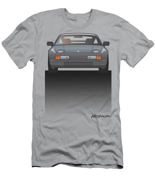 Modern Euro Icons Series Porsche 928 Gts Split Men's T-Shirt (Athletic Fit)